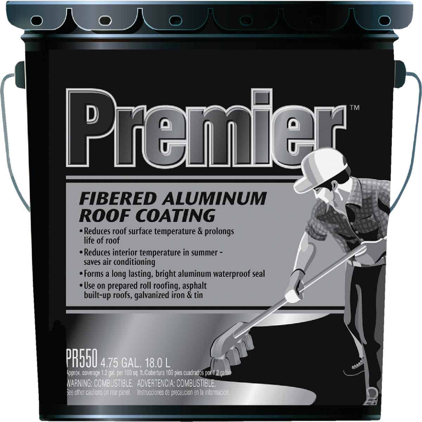 Premier 5 Gal. Fibered Aluminum Roof Coating Image 1