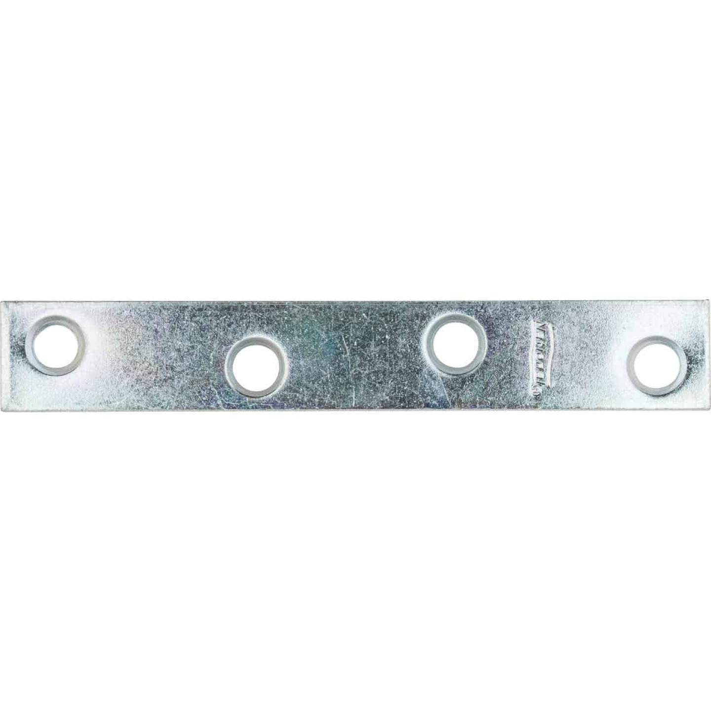 National Catalog 118 4 In. x 5/8 In. Zinc Steel Mending Brace Image 1