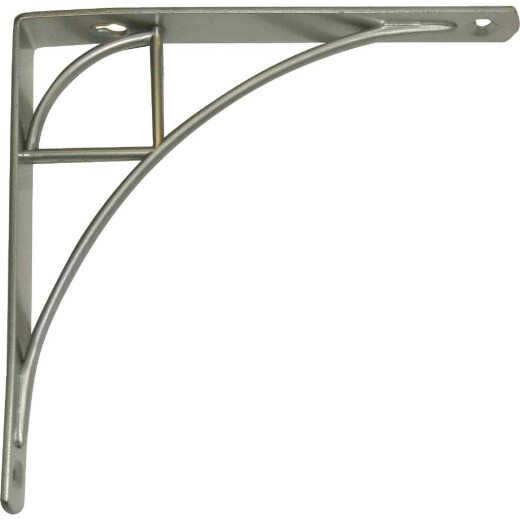 Knape & Vogt 200 Series Oak Park 8 In. Satin Nickel Steel Shelf Bracket