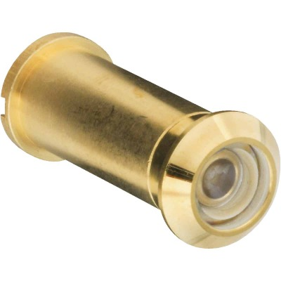 National Solid Brass 160 Degree Angle Door Viewer