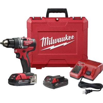 Milwaukee M18 18 Volt Lithium-Ion 1/2 In. Brushless Compact Cordless Drill Kit