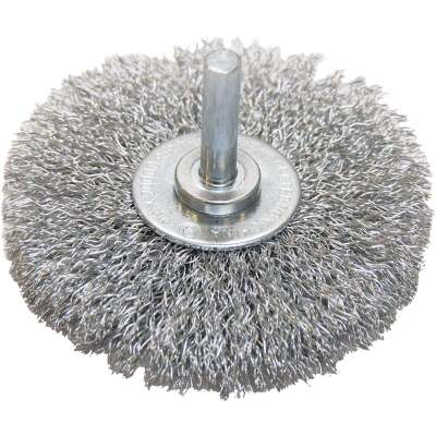Weiler Vortec 3 In. Crimped, Coarse Drill-Mounted Wire Brush