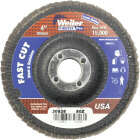Weiler Vortec 4 In. x 5/8 In. 80-Grit Type 29 Angle Grinder Flap Disc Image 1