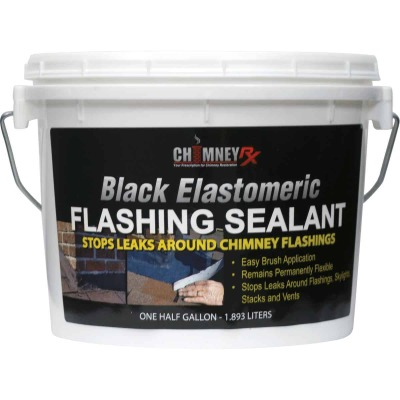 Chimney RX 1/2 Gal. Black Elastomeric Flashing Sealant