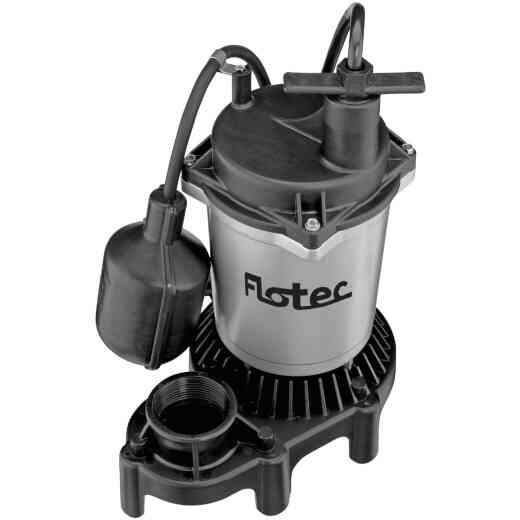 Flotec 1/2 H.P. 115V Submersible Sump Pump with Teathered Switch