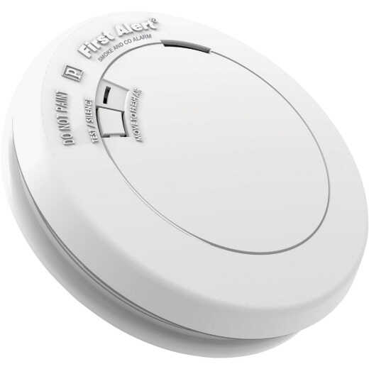 First Alert 10-Year Sealed Battery Photoelectric/Electrochemical Slim Round Carbon Monoxide and Smoke Alarm