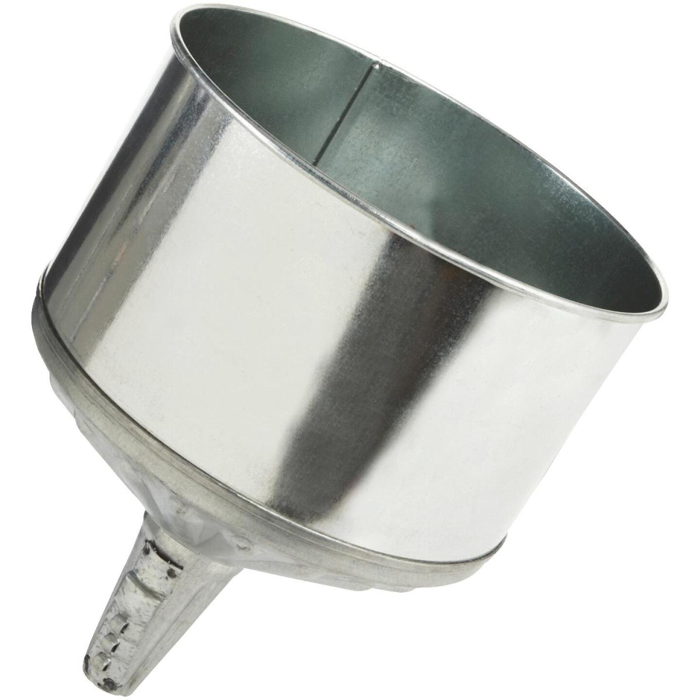 Delphos 8 Qt. Galvanized Steel Lock-On Funnel Image 1