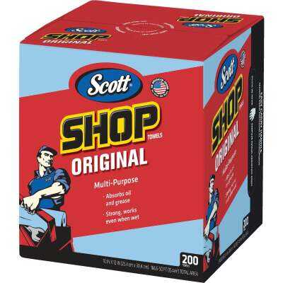 Scott 12 In. W x 10 In. L Disposable Original Shop Towel (200-Sheets)