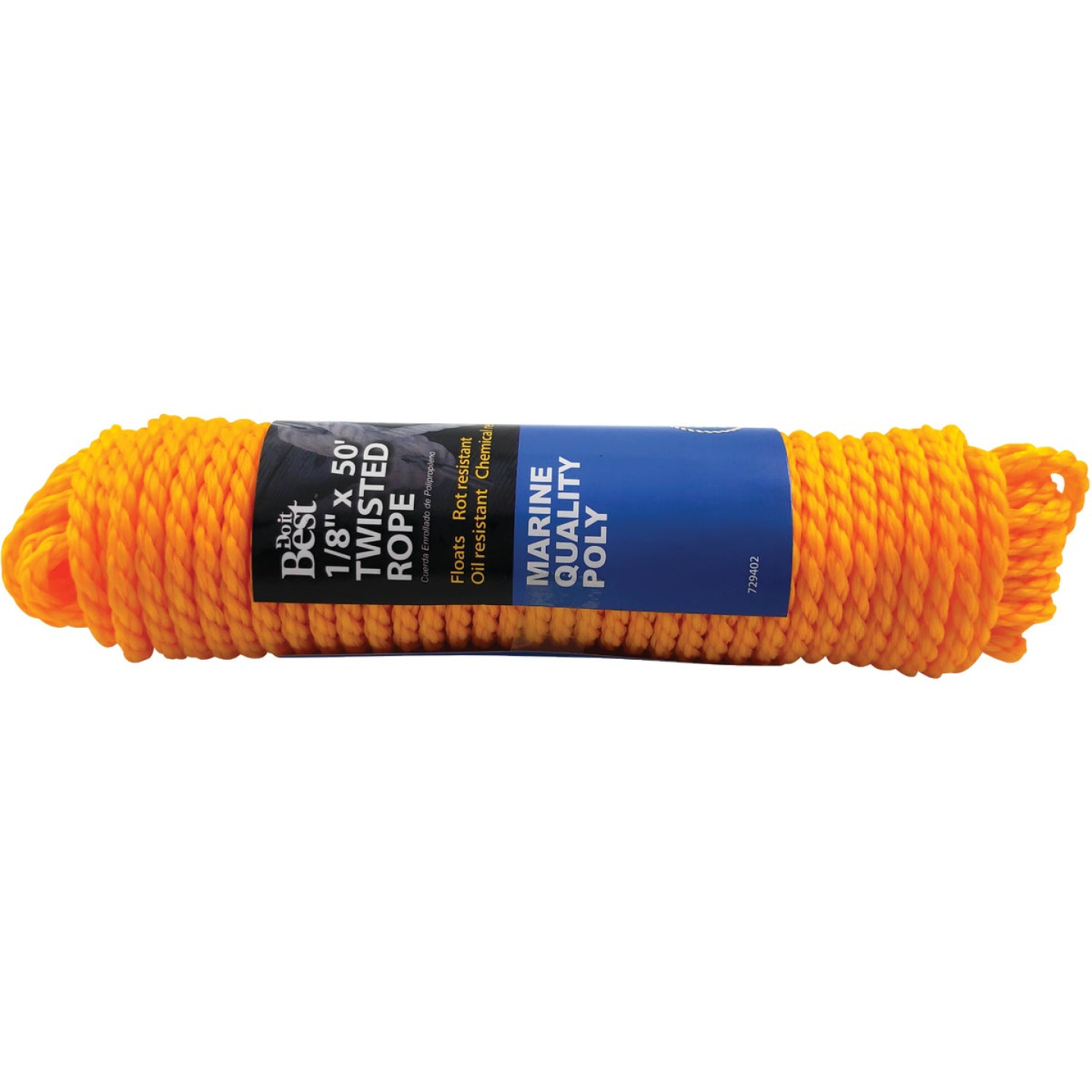 Do it 1/4 In. x 50 Ft. Yellow Twisted Polypropylene Packaged Rope Image 1