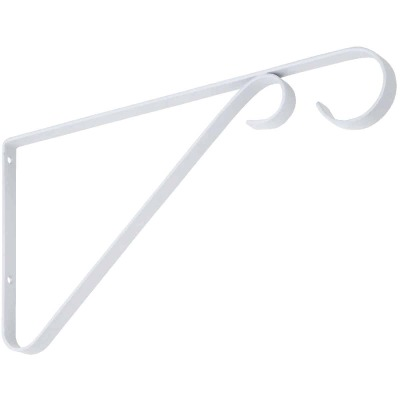 National 9 In. White Steel Hanging Plant Bracket