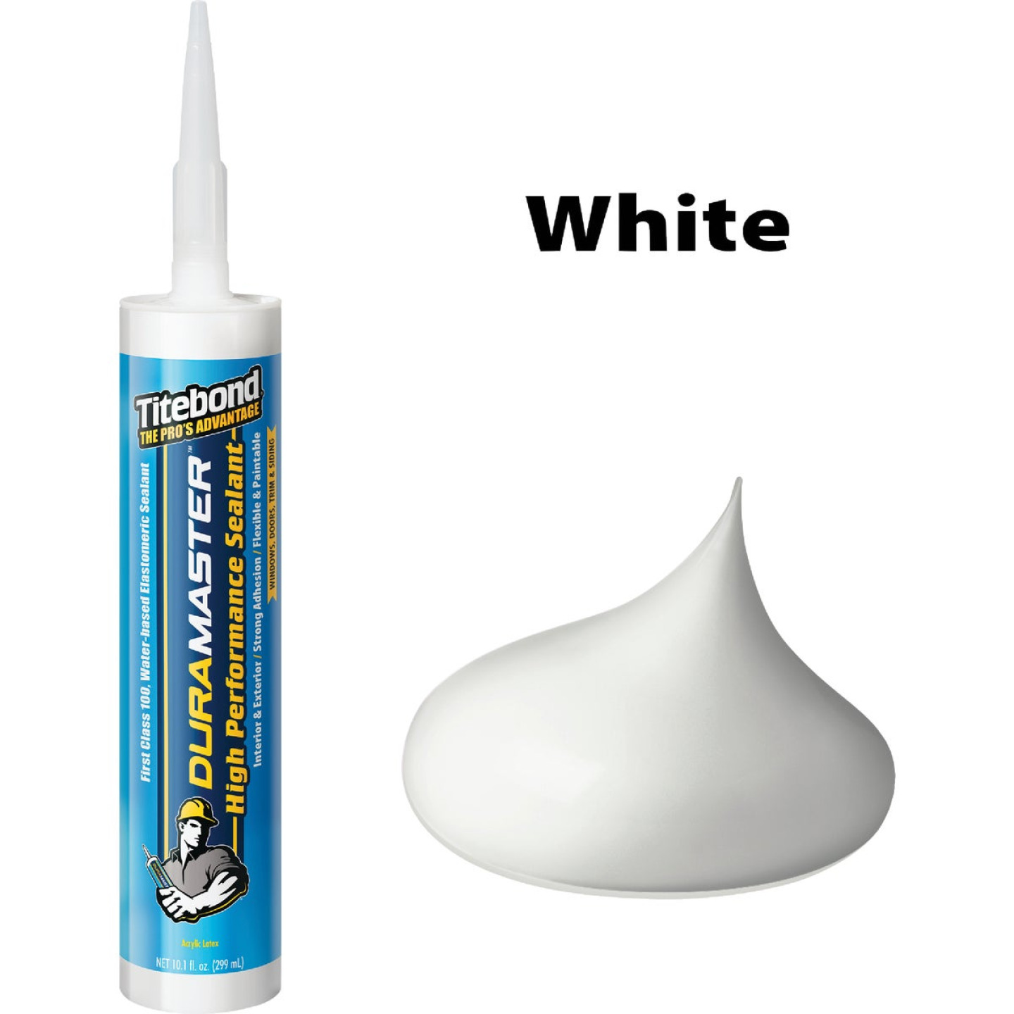 Titebond DuraMaster Sealant 10.1 Oz. Cartridge, White Image 1