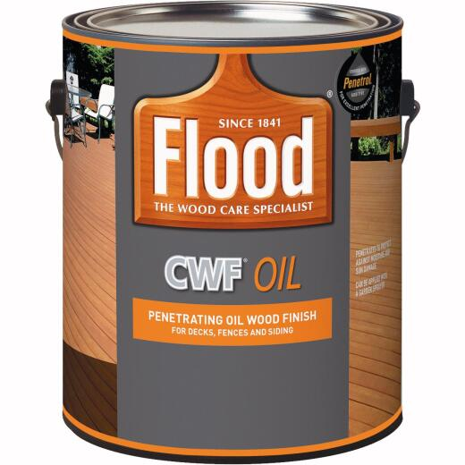 Flood CWF Oil Penetrating Exterior Wood Finish & Preservative, Cedar, 1 Gal.